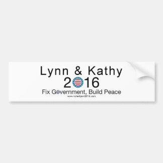 Lynn & Kathy 2016 Bumper Sticker