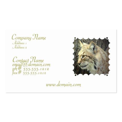 Lynx Cat Business Card