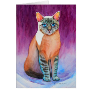 Lynx Point Siamese Cat at Kitty Angels Greeting Card