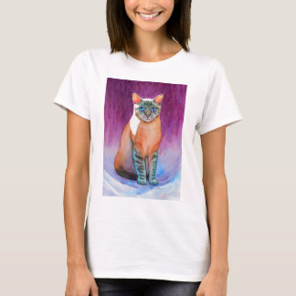 Lynx Point Siamese Cat at Kitty Angels T-Shirt