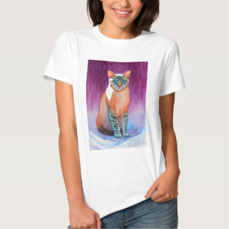 Lynx Point Siamese Cat at Kitty Angels Tshirt