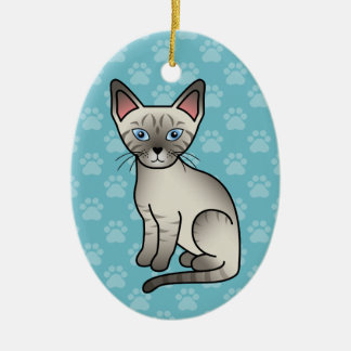 Lynx Point Siamese Cat Christmas Ornament