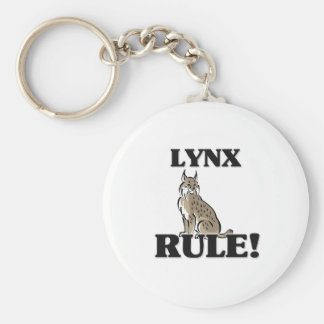 LYNX Rule! Basic Round Button Key Ring