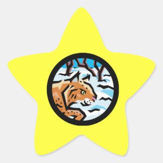 Lynx Star Sticker