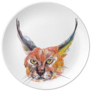 Lynxs Decorative Porcelain Plate
