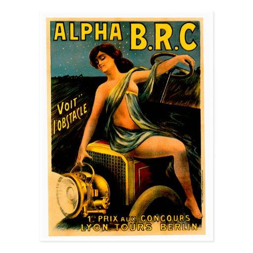 Lyon Berlin Auto Tours ~ Vintage Automobile Ad Post Card