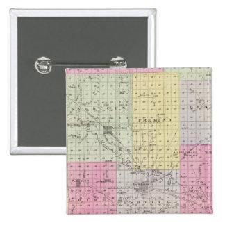 Lyon County, Hartford, Hortonburg, Kansas 15 Cm Square Badge