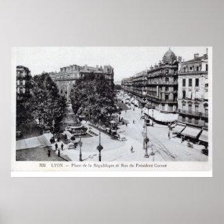 Lyon, France 1910 Vintage Poster