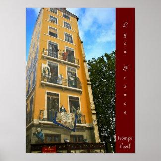 Lyon France trompe l'oeil Poster