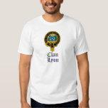 Lyon scottish crest and tartan clan name t shirts