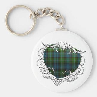 Lyon Tartan Heart Keychain