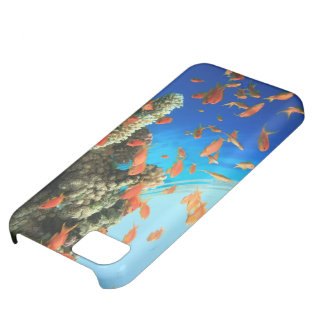 Lyretail anthias on coral reef iPhone 5C case