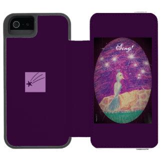 Lyric Fantasy Nightingale Choose Background Color Incipio Watson™ iPhone 5 Wallet Case
