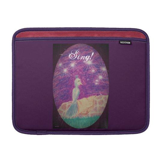 Lyric Fantasy Nightingale Choose Background Colour MacBook Sleeve