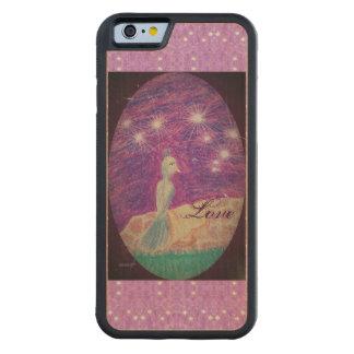 Lyric Fantasy Nightingale Starry Background Carved Maple iPhone 6 Bumper Case