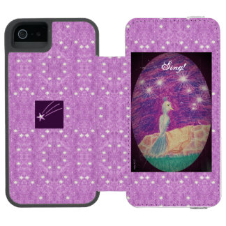 Lyric Fantasy Nightingale Starry Background Incipio Watson™ iPhone 5 Wallet Case