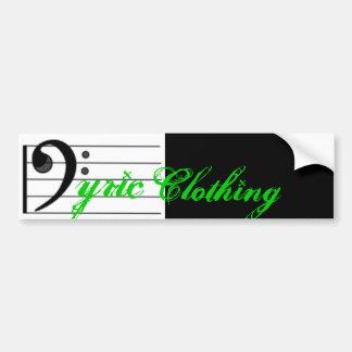 Lyric Sticker Bumper Sticker