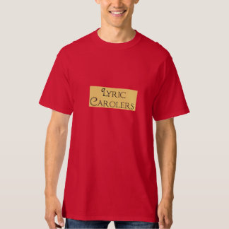 Lyric Victorian Carolers T-shirt