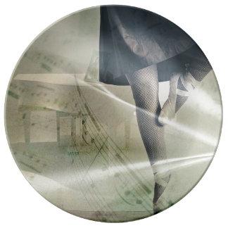 Lyrical Dance; Decorative Plate Porcelain Plate