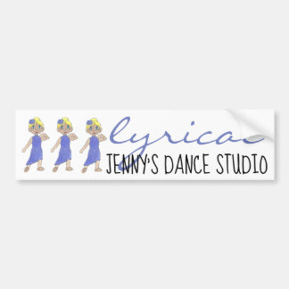 Lyrical Modern Dance Studio School Personalized Bumper Sticker