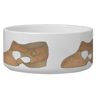 Lyrical Tan Modern Dance Dog Teacher Shoe