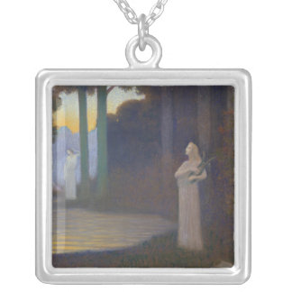 Lyricism in the Forest, 1910 Silver Plated Necklace