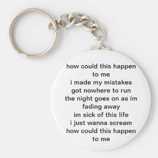 Lyrics key chain
