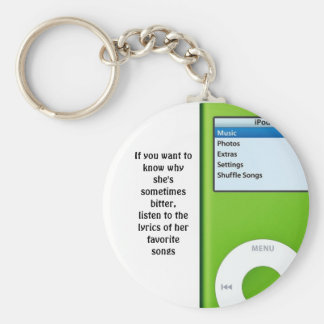 Lyrics to Her Life Basic Round Button Key Ring