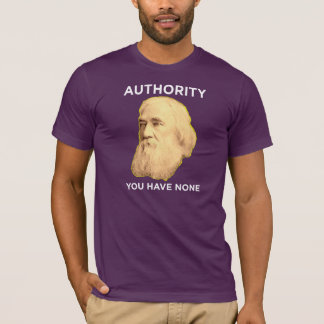 Lysander Spooner No Authority T-Shirt