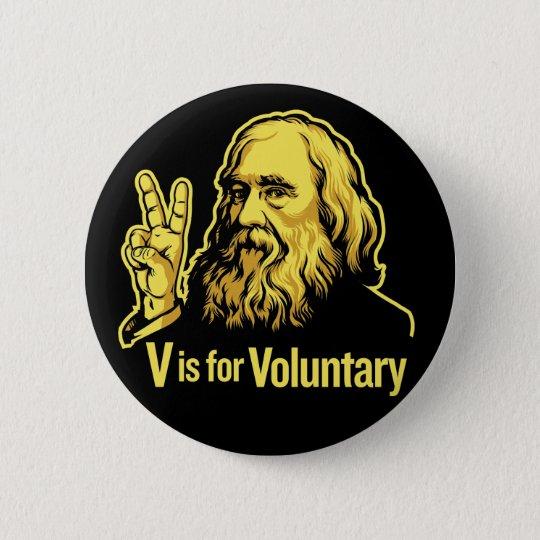 Lysander Spooner Voluntaryism Buttons