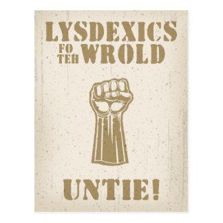 Lysdexics fo teh Wrold Postcard