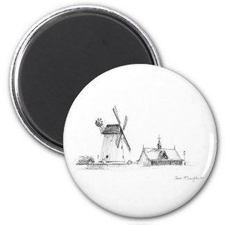 Lytham Windmill 6 Cm Round Magnet