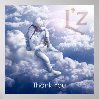 """L'z """"Thank You"""" 32"""" x 32"""" Poster"""