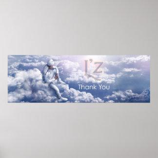 """L'z-""""Thank You"""" 36"""" x 12"""", Poster (Matte)"""