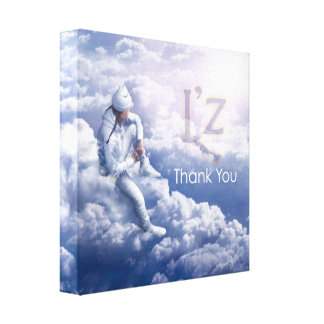"L'z ""Thank You"" Premium Wrap Canvas 12""x12"", 1.5"""