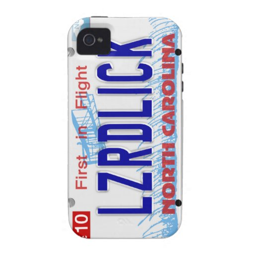 LZRDLICK NC Plate Case-Mate iPhone 4 Covers
