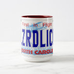 LZRDLICK NC Plate Two-Tone Coffee Mug