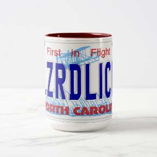 LZRDLICK NC Plate Two-Tone Coffee Mug
