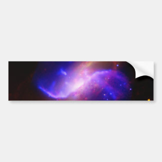 M106 Spiral Galaxy emission NASA Bumper Sticker
