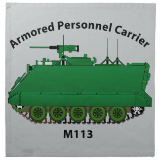 M113-Armored Personnel Carrier APC Cloth Napkin