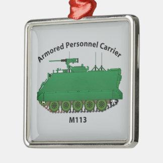 M113-Armored Personnel Carrier APC Silver-Colored Square Decoration