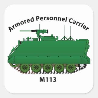 M113-Armored Personnel Carrier APC Square Sticker