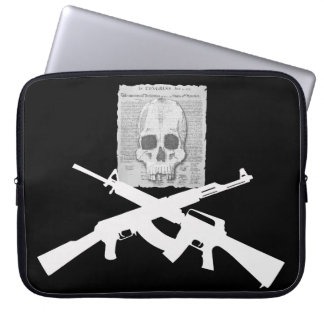 M16 and AK-47 Skull and Crossbones Computer Sleeve