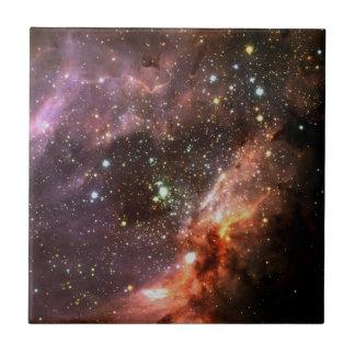 M17 Stellar Cluster Small Square Tile