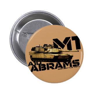 M1 Abrams 6 Cm Round Badge