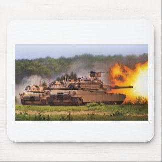 M1 Abrams Firing Mouse Pad
