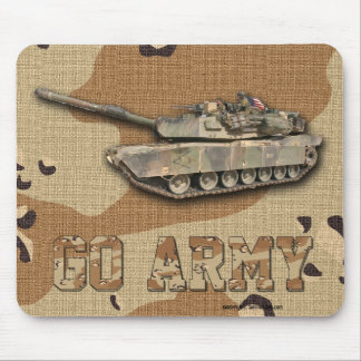 M1 - Abrams Go Army Desert Camouflage Mousepad