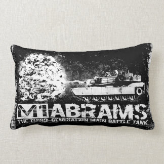 "M1 Abrams Polyester Lumbar Pillow 13"" x 21"" Cushion"