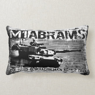 "M1 Abrams Polyester Lumbar Pillow 13"" x 21"" Throw Cushions"