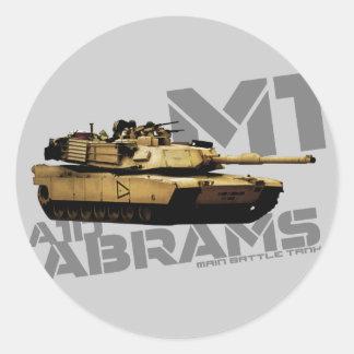 M1 Abrams Round Sticker